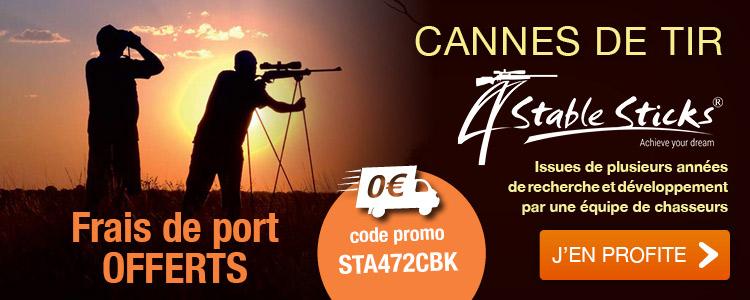 Frais de port OFFERTS / Cannes de tir 4 STABLE STICKS