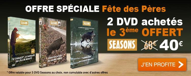 Offre 3 DVD Seasons pour le prix de 2