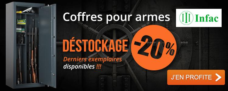 Déstockage -20% Coffres pour armes INFAC