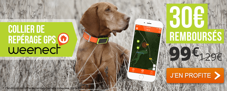 30 € OFFERTS / Collier GPS pour chien Weenect