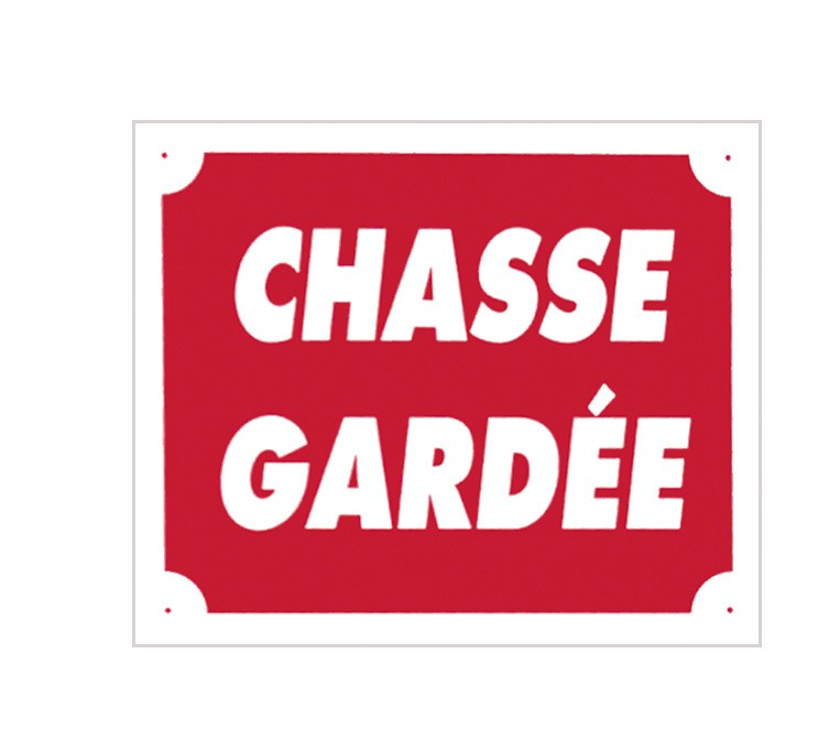 Pack 10 pancartes de chasse chasse gardÉe, made in chasse...