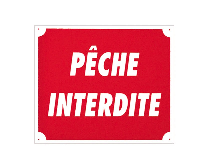 Pack 10 pancartes pÊche interdite, made in chasse - equip...