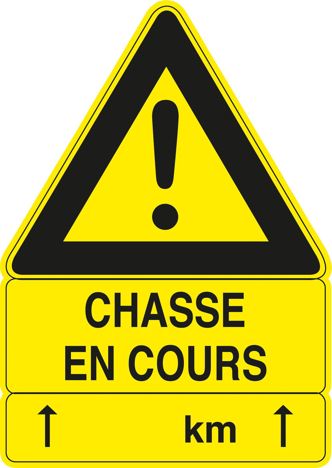 Pack 5 panneaux 100 x 70 cm chasse en cours, made in chas...