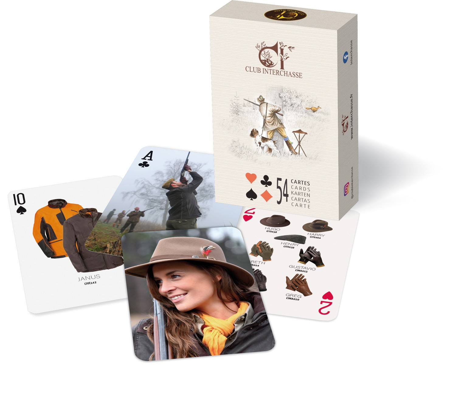 Jeu de cartes club interchasse alexandre, made in chasse ...