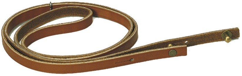 Lanière-sautoir en cuir gras pour corne de chasse, made i...