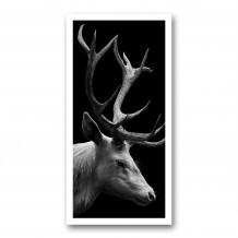 Plaque photo décorative ALU Cerf en portrait
