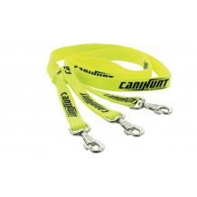 Laisse tripleur plate CaniHunt Hunter - 1,50 m
