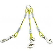 Accouple triple câble métallique CaniHunt Xtreme
