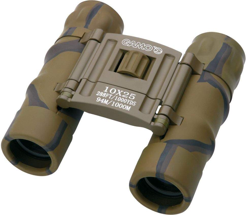 Jumelles de poche gamo 10x25 camo, made in chasse - equip...