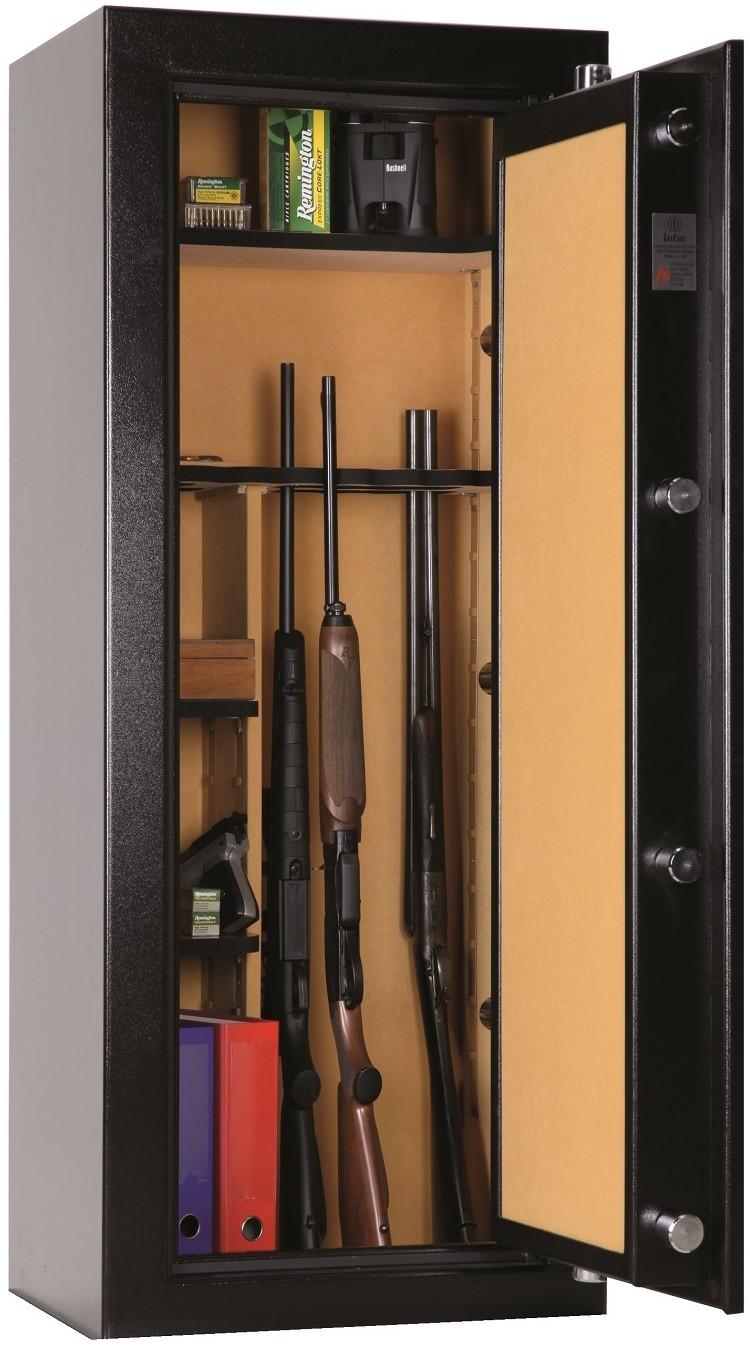 armoire forte anti feu infac big safe vert 16 21 armes ebay. Black Bedroom Furniture Sets. Home Design Ideas