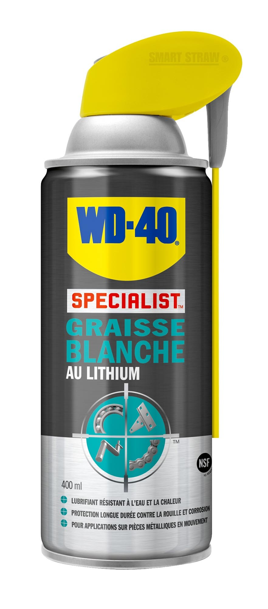 Spray graisse blanche lithium wd-40, made in chasse - equ...