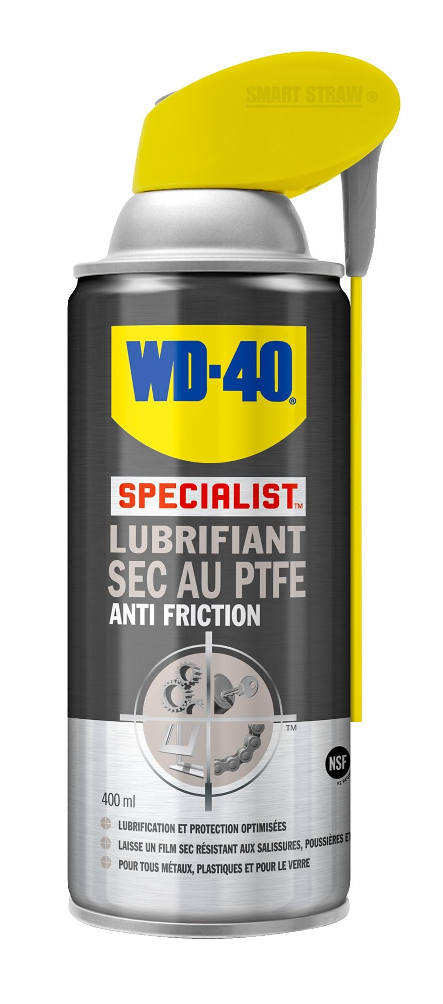 Spray lubrifiant sec wd-40 au ptfe, made in chasse - equi...