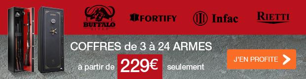 Coffres de 3 à 24 armes BUFFALO RIVER / FORTIFY / INFAC / RIETTI